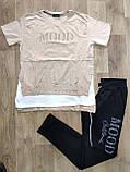 Жіночий літній костюм з брюками з трикотажу *Cignet* (Туреччина); розмір ХЛ---4ХЛ, 7цветов, фото 3