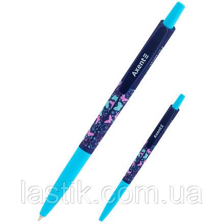 Ручка шариковая автомат. Butterflies, синя, фото 2