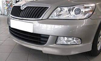 ABS Юбка переднего бампера Skoda A5 2009-2013 ABS пластик