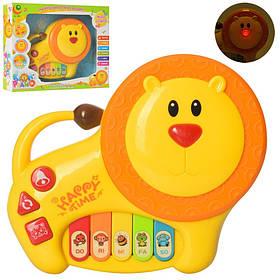 Детское пианино львенок, 19см, муз, звук, свет, на бат-ке, в кор-ке