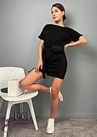 Трикотажное короткое платье с сумочкой  054 В /03, фото 1