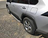 Toyota Rav 4 2019+ Боковые пороги Fullmond (2 шт., алюминий)