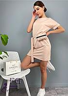 Трикотажное короткое платье с сумочкой  054 В /04, фото 1