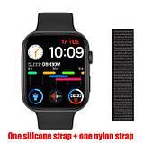 Розумні смарт годинник Smart Watch FK-88 сенсорні наручні пульсометр шагометр фітнес трекер чорні, фото 2