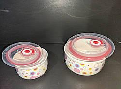 УЦІНКА! Набір салатників, з кришками Stenson MC2705, 3 шт