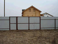 Ворота распашные  - каркас 3000х1600, фото 3