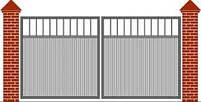 Ворота распашные  - каркас 3000х1600, фото 7