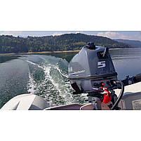 Двигун для човна Yamaha, 5 лс, 4 тактний, F5 AMHS - підвісний двигун для яхт і рибальських човнів, фото 3