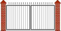 Ворота распашные  - каркас 3000х1600, фото 8