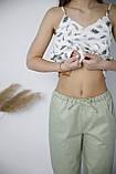 Домашний костюм-пижама 100% хлопок, майка и штаны, фото 2