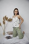 Домашний костюм-пижама 100% хлопок, майка и штаны, фото 3