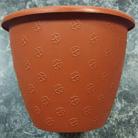Небольшой терракотовый цветочный горшок 3.2л 21*16.5 см, цветочный вазон