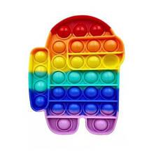 Антистресс Pop It сенсорная игрушка, пупырка поп ит , pop it fidget разноцветный дудл