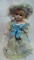 Кукла фарфоровая декоративная Лили высота 30 см