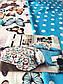 Семейный комплект постельного белья 150*220 (2шт) из ранфорса Бабочки и горошек, фото 8