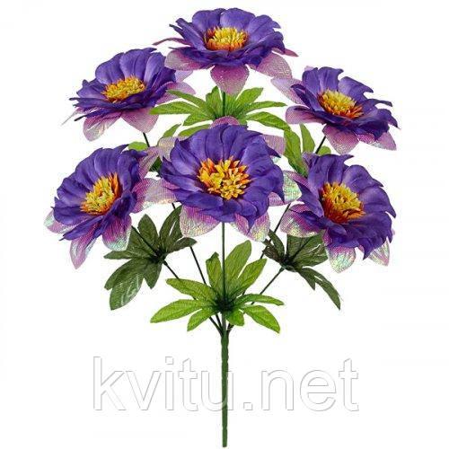 Искусственные цветы букет гербер с парчой Водоворот, 41см