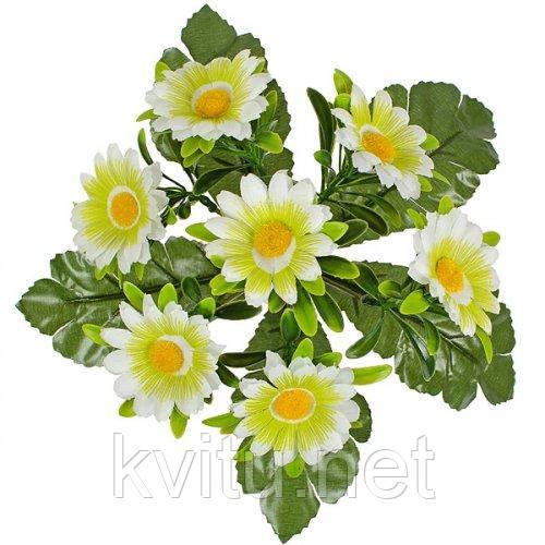 Искусственные цветы букет ромашка цветная Глазок, 29см