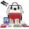 Рюкзак-органайзер, сумка для мамы Новелла TNXB с крючками крепления к ручке коляски, Детские сумки для мам, фото 5