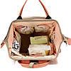 Рюкзак-органайзер, сумка для мамы Новелла TNXB с крючками крепления к ручке коляски, Детские сумки для мам, фото 8