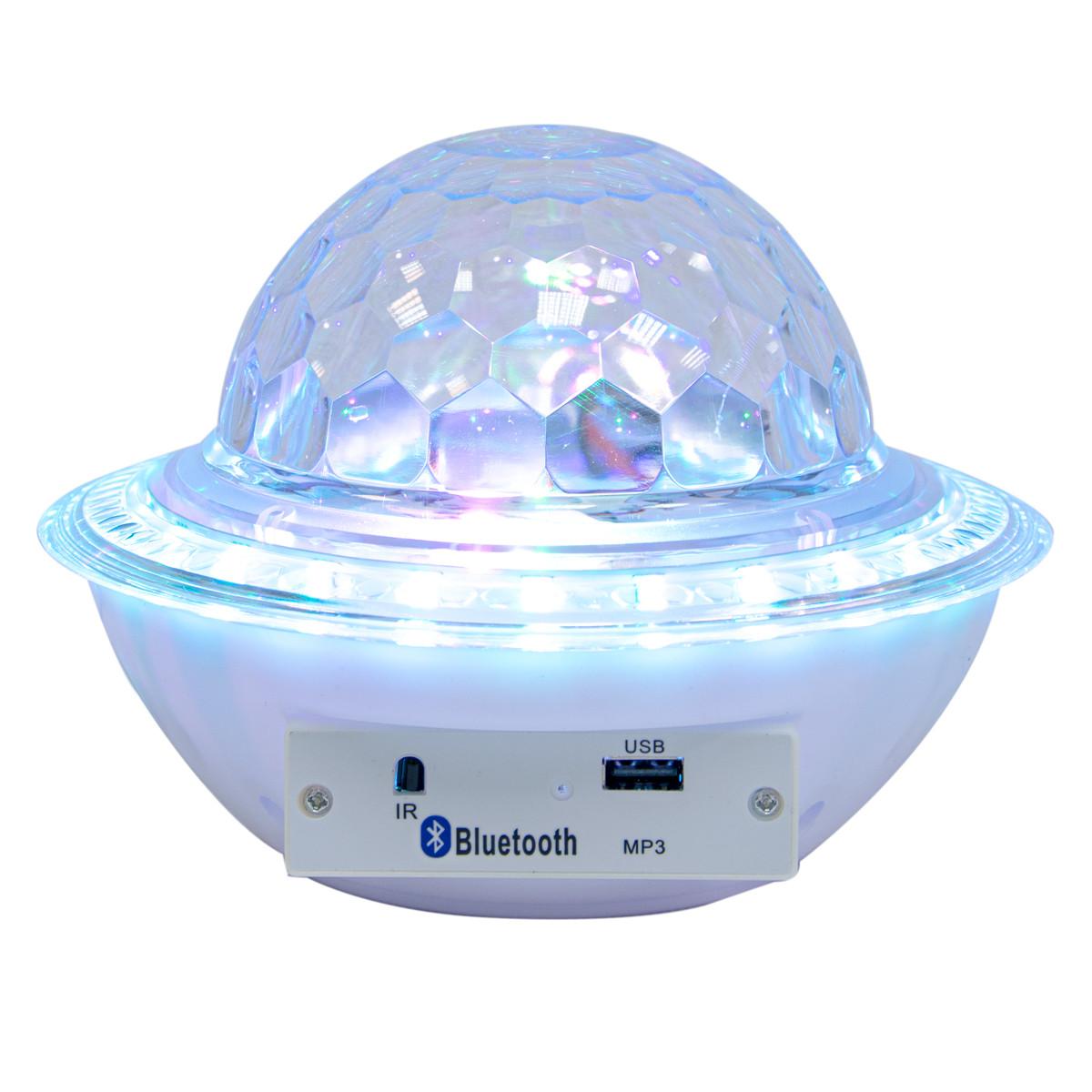 Диско шар с блютузом Ufo crystal magic ball - Белый, светодиодный музыкальный дискошар, цветомузыка (ST)