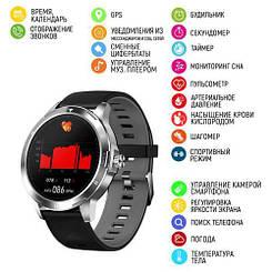 Розумні смарт годинник Modfit K15 Black-Silver Silicone