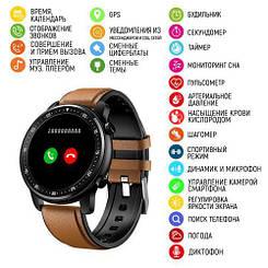 Розумні смарт годинник Modfit MT1 Brown-Black