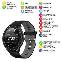 Розумні смарт годинник Modfit Z06 Black-Gray