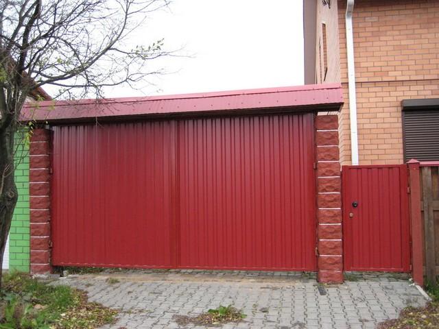 Ворота распашные зашивка профнастилом 1 ст. 3000х1600
