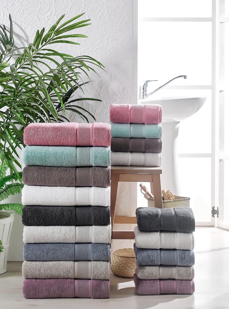 Бавовняний рушник для ванної TAC Pure 70х140см / колір на вибір
