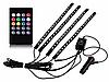 Cветодиодная RGB лента для подсветки салона автомобиля с пультом ДУ 4 шт по 18 лед ELITE LUX EL-1228, фото 2
