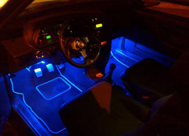 Cветодиодная RGB лента для подсветки салона автомобиля с пультом ДУ 4 шт по 18 лед ELITE LUX EL-1228