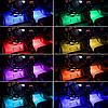 Cветодиодная RGB лента для подсветки салона автомобиля с пультом ДУ 4 шт по 18 лед ELITE LUX EL-1228, фото 7