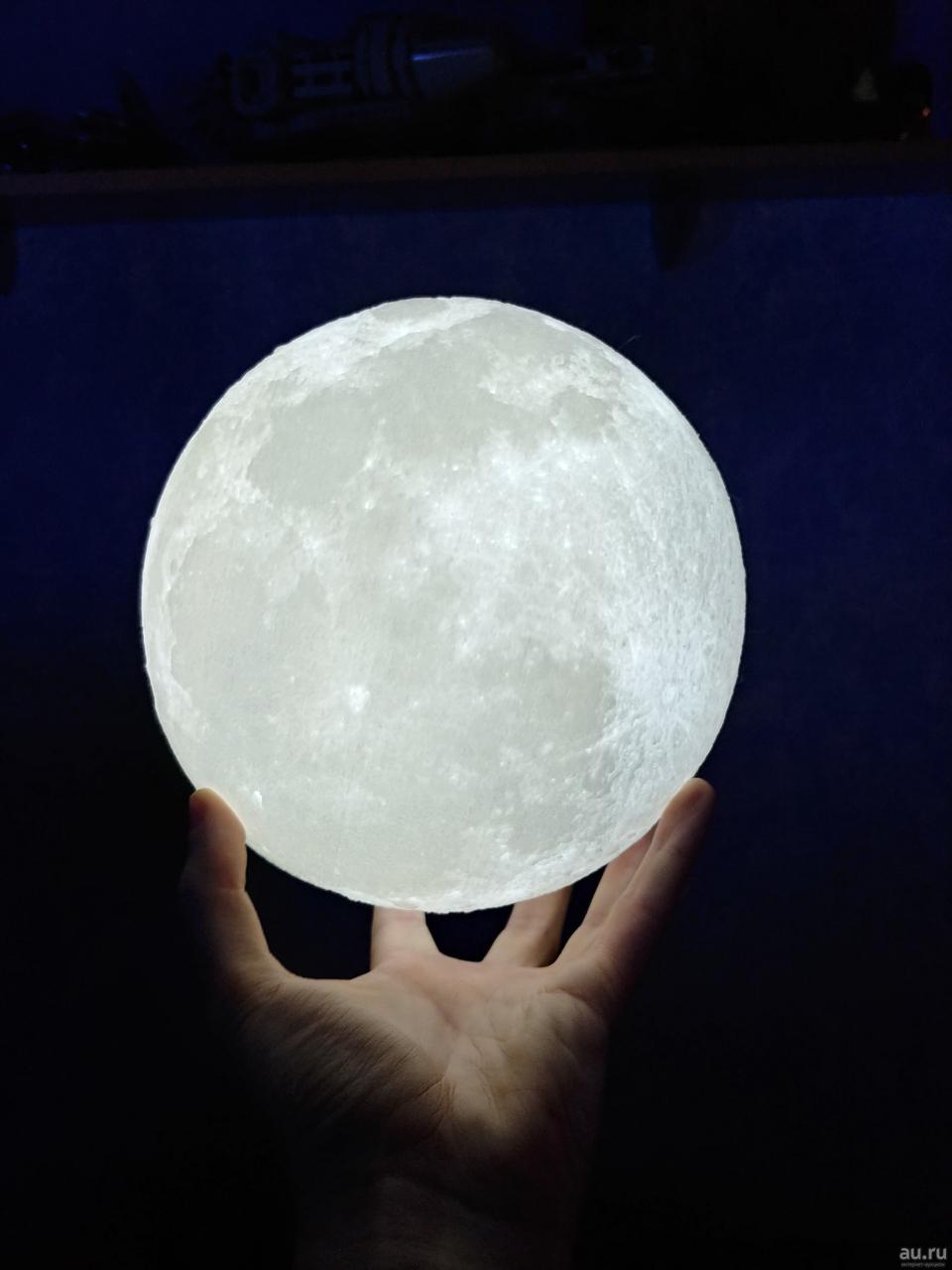 Дизайнерська, яскрава Сенсорна лампа нічник 3D MOON 18см. Краща Ціна!