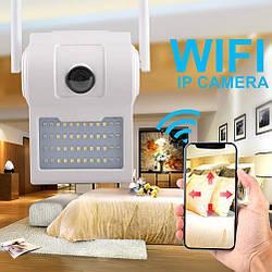 Уличная камера видеонаблюдения с Led прожектором Wall Lamp Camera D2, ip камера видеонаблюдения (GK)
