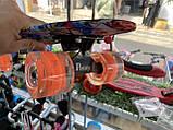 Скейт Penny Board, с широкими светящимися колесами Пенни борд, детский , от 4 лет, расцветка Графити, фото 5
