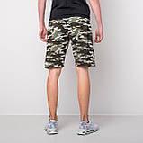 Мужские трикотажные шорты, камуфляж цвета хаки, фото 2