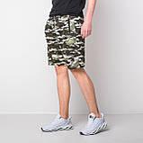 Мужские трикотажные шорты, камуфляж цвета хаки, фото 3