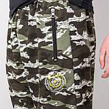 Мужские трикотажные шорты, камуфляж цвета хаки, фото 4