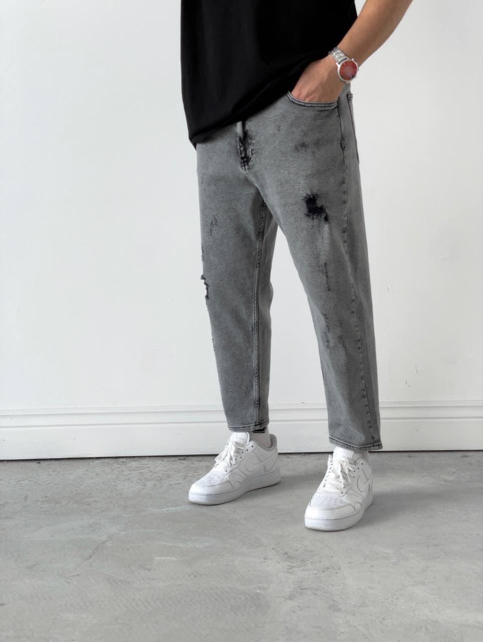 Чоловічі джинси Мом сірі