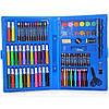 Набір для дитячої творчості та малювання Painting Set 86 предметів дитячий у валізці Блакитний, фото 2