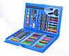 Набір для дитячої творчості та малювання Painting Set 86 предметів дитячий у валізці Блакитний, фото 3