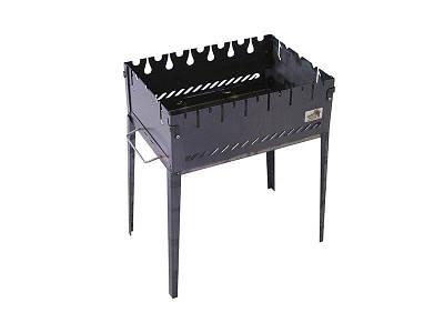 Розкладний мангал валізу на 6 шампурів з чорного металу SmokeHouse