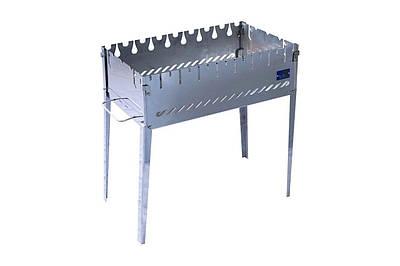 Розкладний мангал валізу на 8 шампурів з нержавіючої сталі SmokeHouse