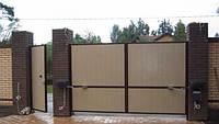 Ворота откатные зашивка профнастилом 2 ст. 4000х2000