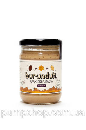 Арахісова паста Burunduk Peanut Butter 250 г з медом, фото 2