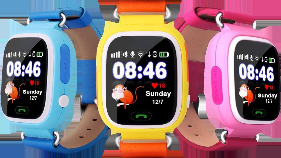 Смарт-годинник дитячі UWatch Q90 GPS контроль дзвінки повідомлення SOS Wi-Fi