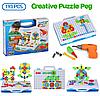Мозаїка конструктор з шуруповертом Puzzle Creative 193 деталі TLH-28, фото 3