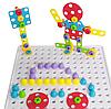 Мозаїка конструктор з шуруповертом Puzzle Creative 193 деталі TLH-28, фото 5