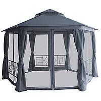 Садовый шатер 2*2*2 м. Павильон беседка Москитная сетка + шторки