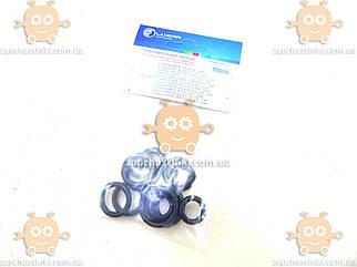 Комплект колец уплотнительных для подключения радиатора кондиционера (универсальный, 16 шт.) (Luzar) ЗЕ 20768